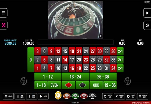 Live European Roulette 777 Slots Bay game