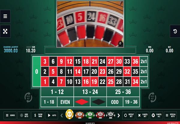 LUX Roulette 777 Slots Bay game