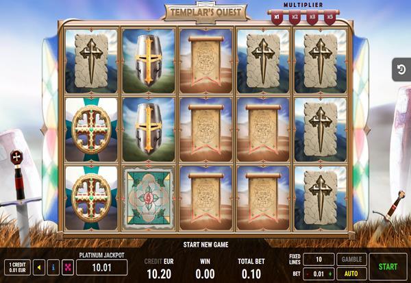 Templars Quest 777 Slots Bay game
