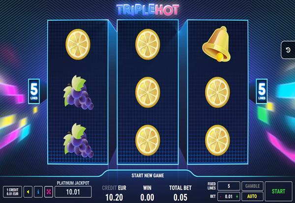 Triple Hot 777 Slots Bay game