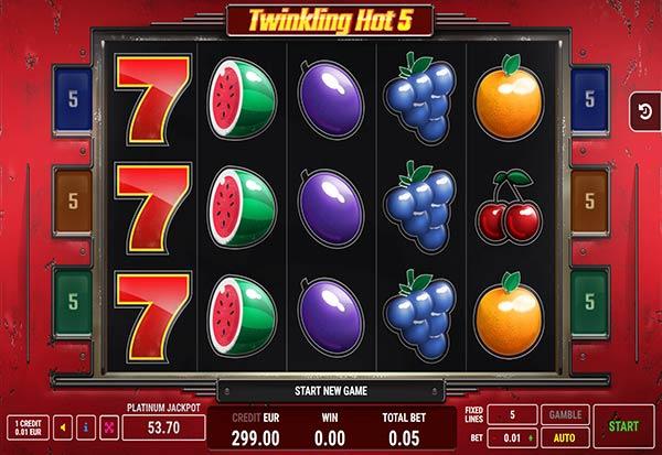 Twinkling Hot 5 777 Slots Bay game