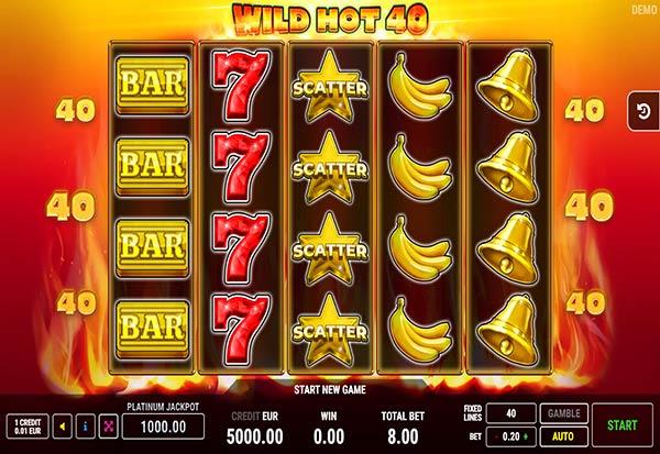 Wild Hot 40 777 Slots Bay game