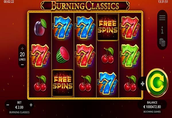 Burning Classics 777 Slots Bay game