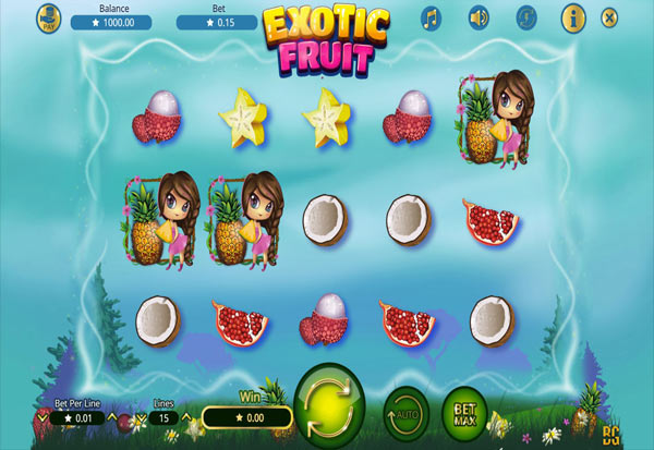 Exotic Fruit 777 Slots Bay game