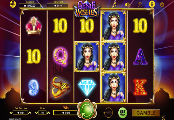 Genie Wishes 777 Slots Bay game