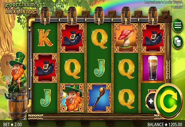 Leprechaun's Lucky Barrel 777 Slots Bay game