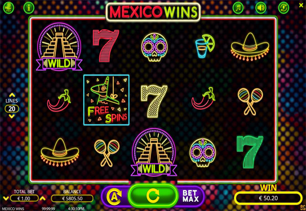 Mexico Wins 777 Slots Bay game