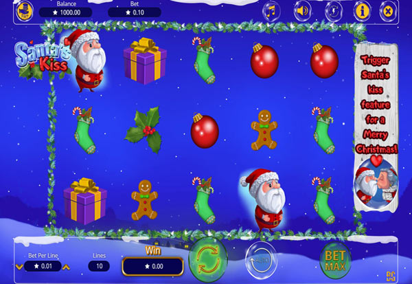 Santa´s Kiss 777 Slots Bay game