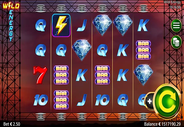 Wild Energy 777 Slots Bay game