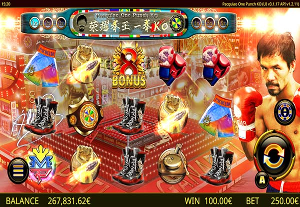 Pacquaio One Punch KO 777 Slots Bay game