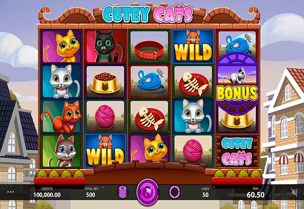 Cutey Cats 777 Slots Bay game