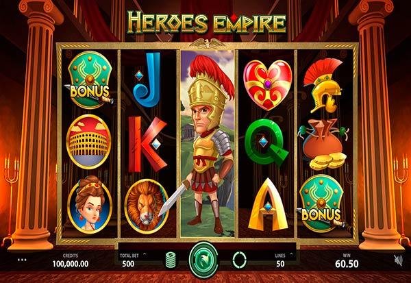 Heroes Empire 777 Slots Bay game