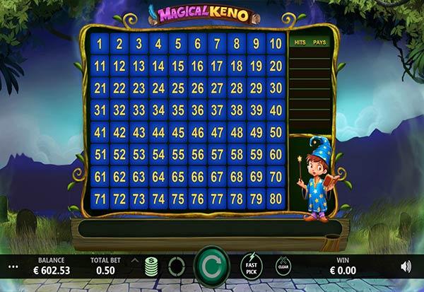 Magical Keno 777 Slots Bay game