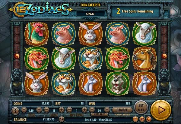 12 Zodiacs 777 Slots Bay game