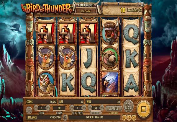 Bird of Thunder 777 Slots Bay game