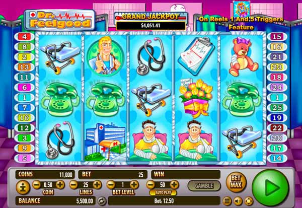 Apr 23, · But if you enjoy gambling at casinos online either for free or for money, then you should play Dr.Feelgood slot machine online.This wonderful game has been created by Habanero Systems, who are known to make excellent software for online casino slots.Although it is a relatively small company, it has become very famous the world over.