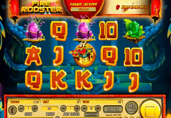Fire Rooster 777 Slots Bay game