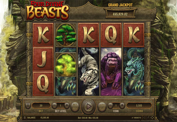 Four Divine Beasts 777 Slots Bay game
