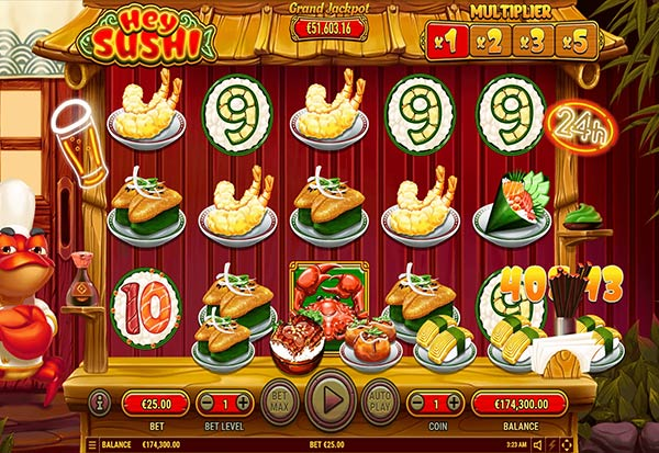 Hey Sushi 777 Slots Bay game