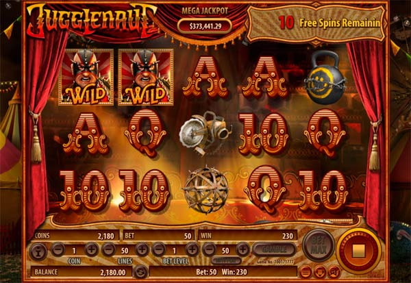 Jugglenaut 777 Slots Bay game