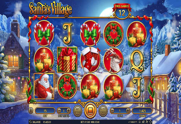Santa's Village 777 Slots Bay game