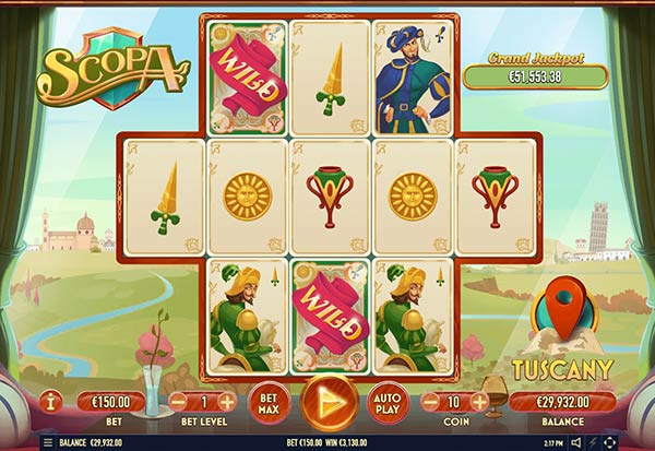 Scopa 777 Slots Bay game