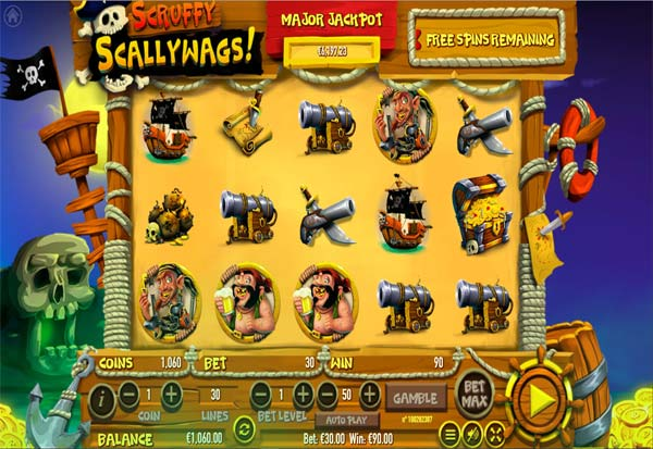 Scruffy Scallywags 777 Slots Bay game