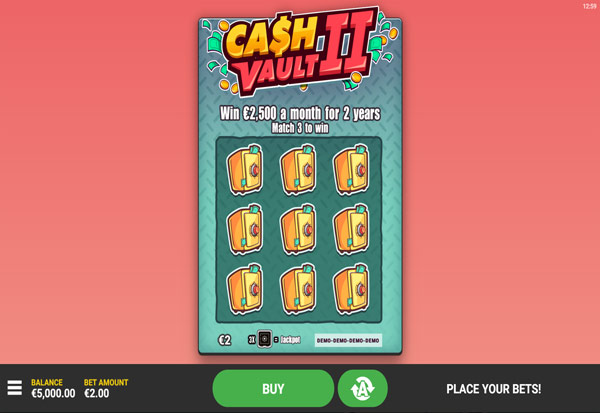 Cash Vault II 777 Slots Bay game