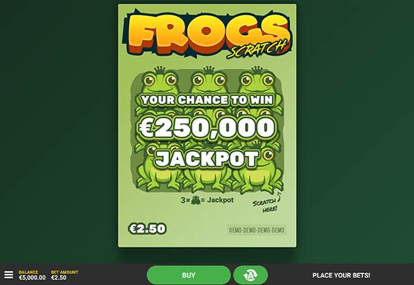 Frogs Scratch 777 Slots Bay game