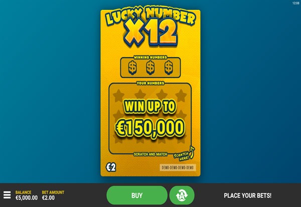 Lucky Numbers x12 777 Slots Bay game