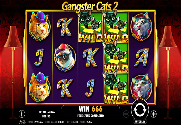 Gangster Cats 2 777 Slots Bay game