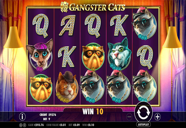 Gangster Cats 777 Slots Bay game