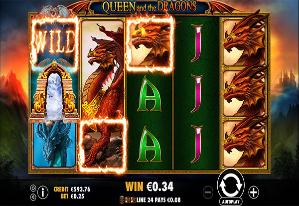 Queen and the Dragons 777 Slots Bay game