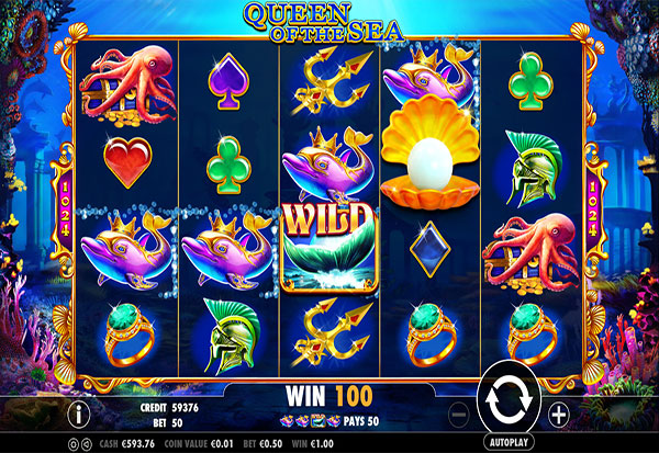 Queen of the Sea 777 Slots Bay game
