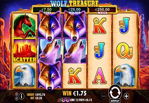 Wolf Treasure 777 Slots Bay game