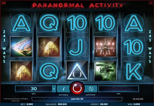 Paranormal Activity 777 Slots Bay game