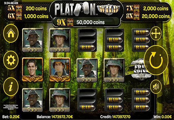 Platoon Wild Progressive 777 Slots Bay game