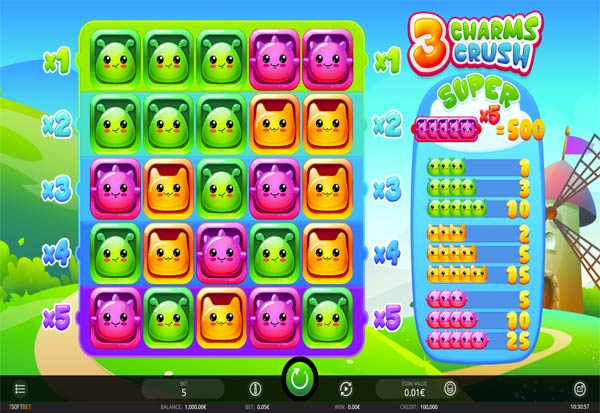 3 Charms Crush 777 Slots Bay game