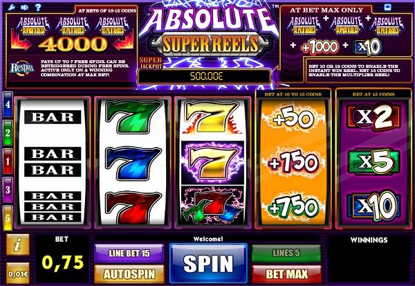 Absolute Super Reels 777 Slots Bay game