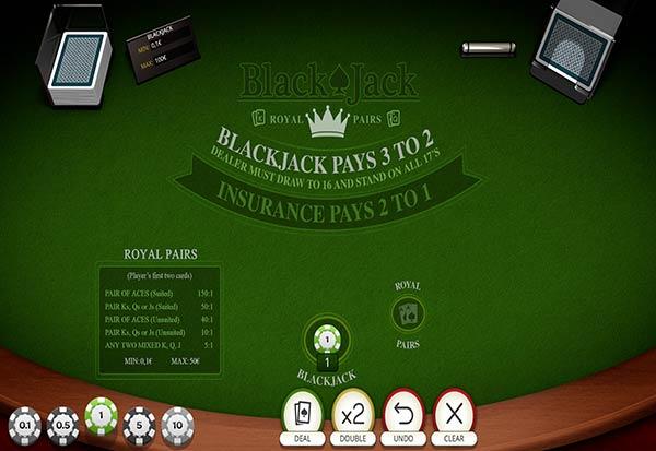 Blackjack Royal Pairs 777 Slots Bay game