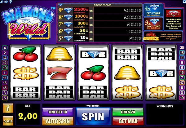 Diamond Wild 777 Slots Bay game