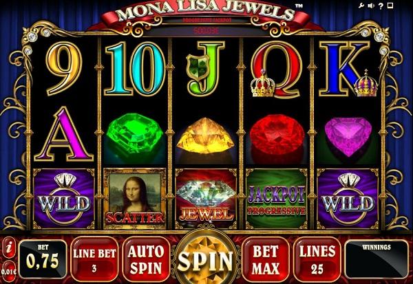 Mona Lisa Jewels 777 Slots Bay game