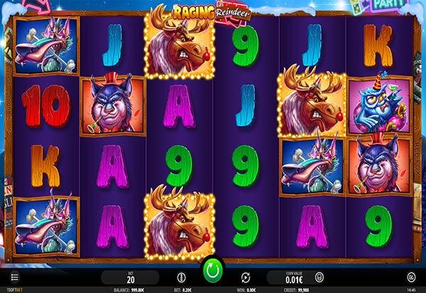 Raging Reindeer 777 Slots Bay game