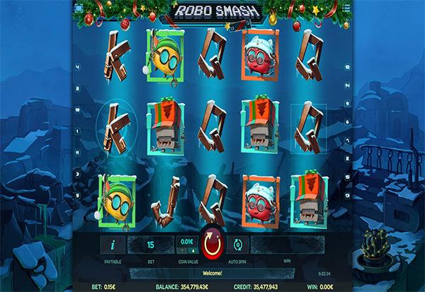 Robo Smash Christmas 777 Slots Bay game