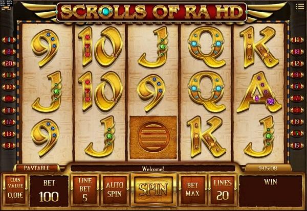 Scrolls of Ra HD 777 Slots Bay game