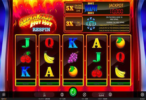 Super Fast Hot Hot Respin 777 Slots Bay game