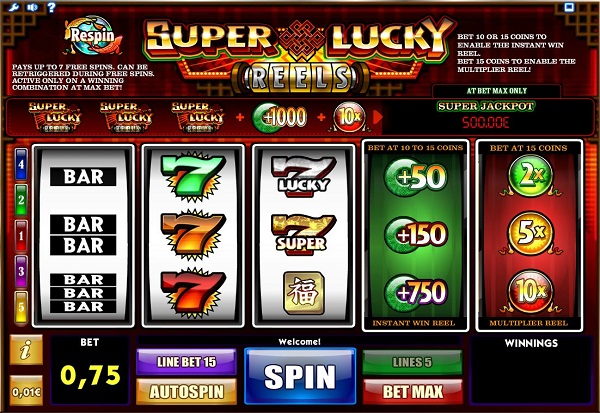 Super Lucky Reels 777 Slots Bay game