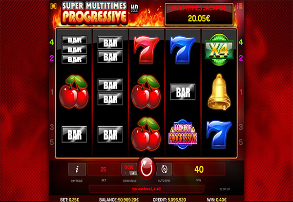 Super Multitimes Progressive HD 777 Slots Bay game