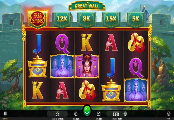 The Great Wall 777 Slots Bay game