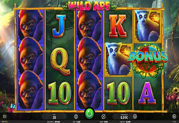 Wild Ape 777 Slots Bay game